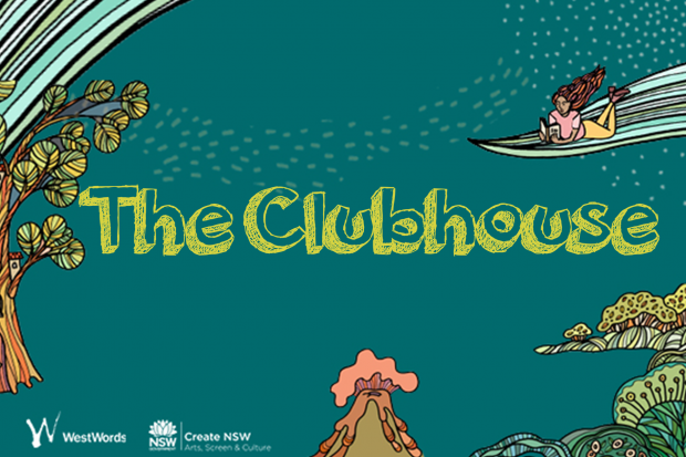 Tile with title text for The Clubhouse children's Website
